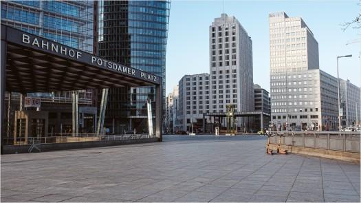 Leerer Potsdamer Platz