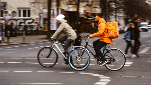 Lieferandofahrer unterwegs in Friedirchshain