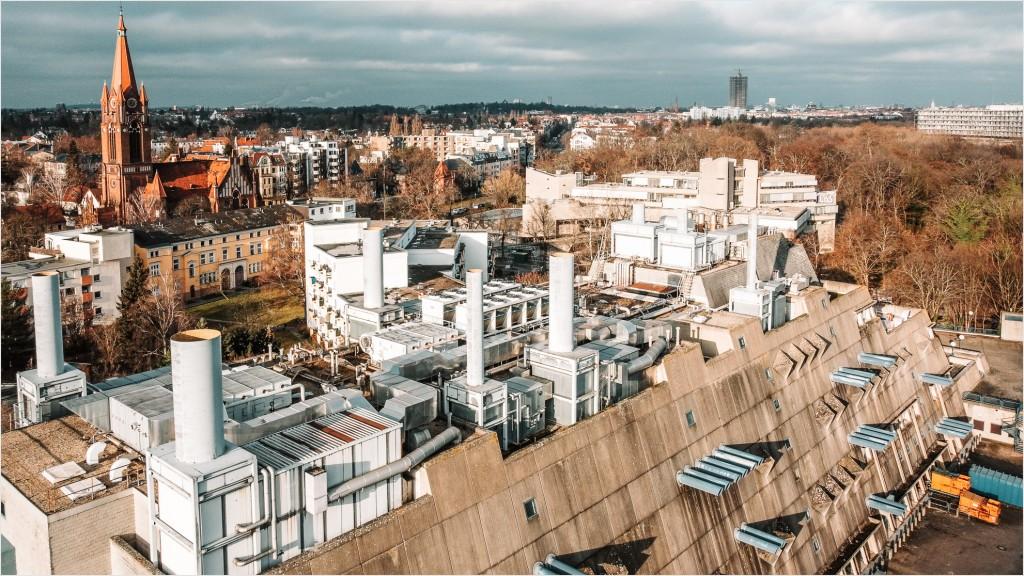 Mäusebunker in Berlin von oben