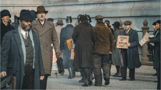 Dreharbeiten zu Babylon Berlin am Roten Rathaus