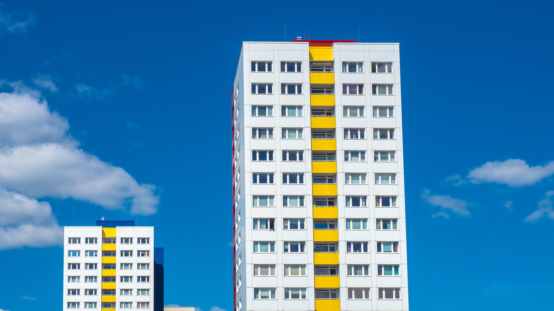 Hochhäuser an der Jannowitzbrücke in Berlin