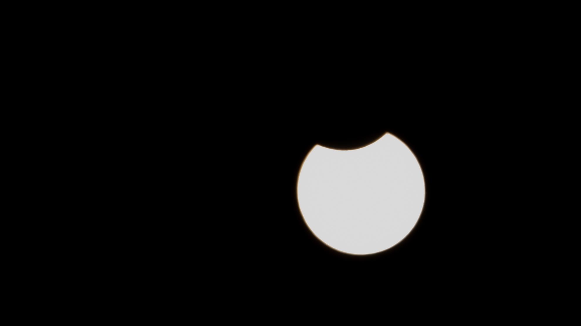 Partielle Sonnenfinsternis am 10.06.2021 über Berlin