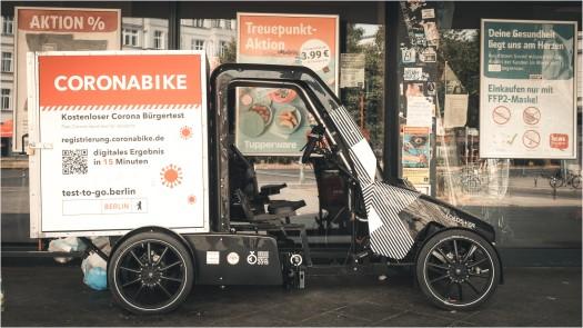 Coronabike REWE Friedrichshain
