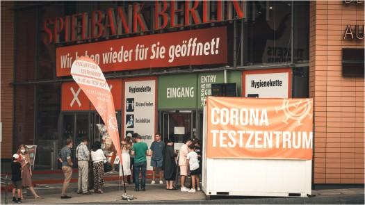 Corona-Testzentrum Potsdamer Platz